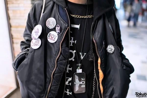 Boy London Buttons & Phone Case