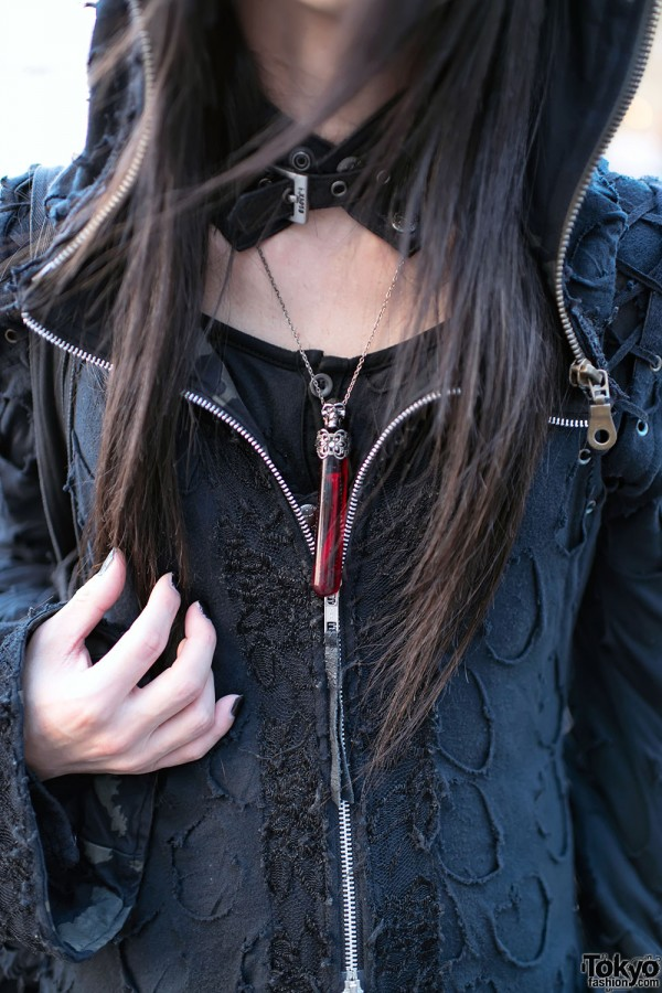 Gothic Vial Necklace in Harajuku