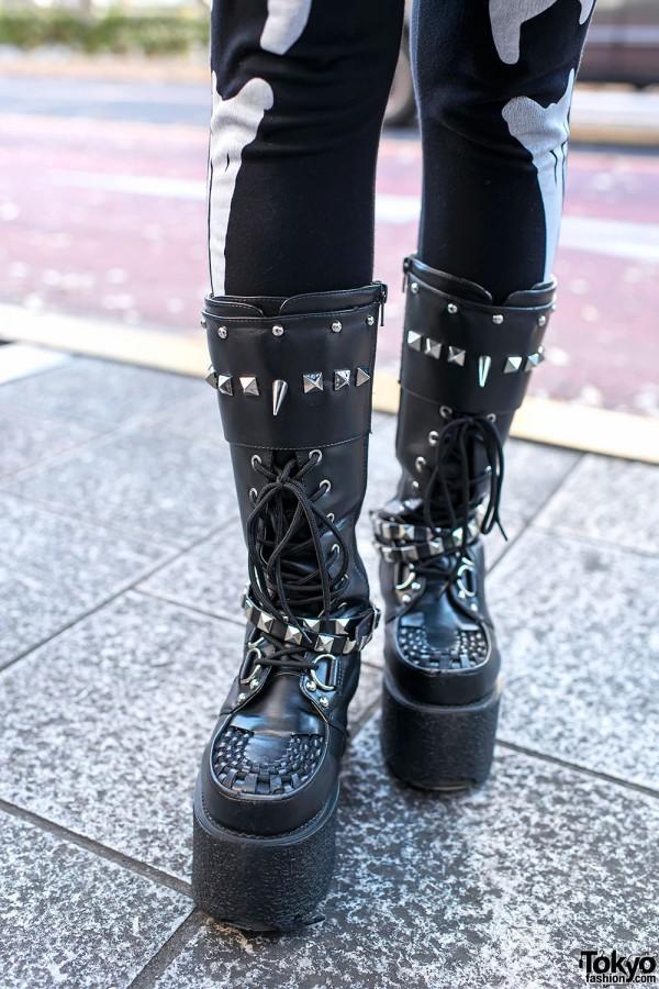 Spiked Punk Platform Boots