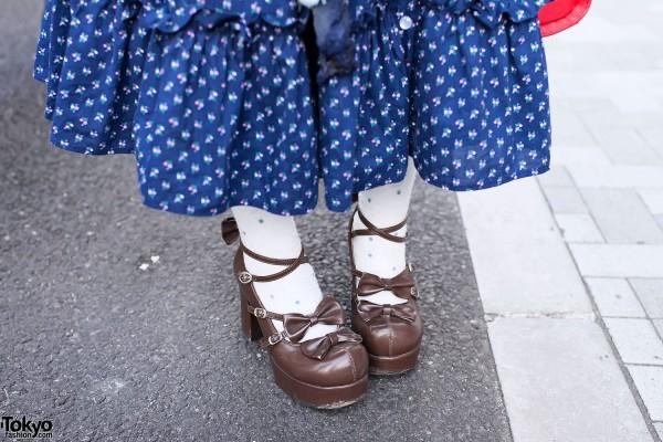Polka Dot Skirt & Lolita Shoes
