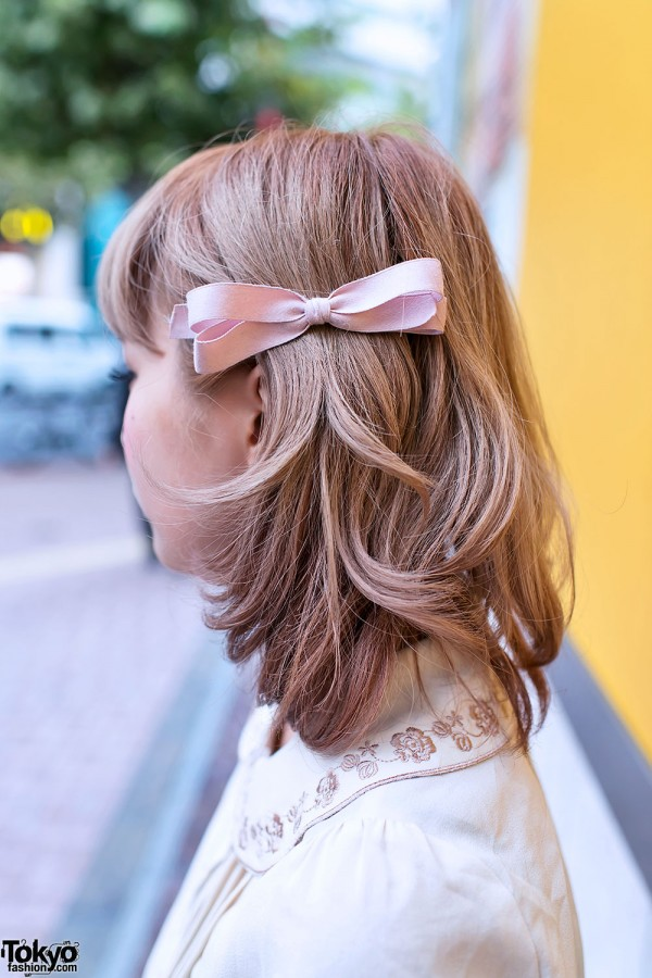 Pink Hair Bow in Shibuya