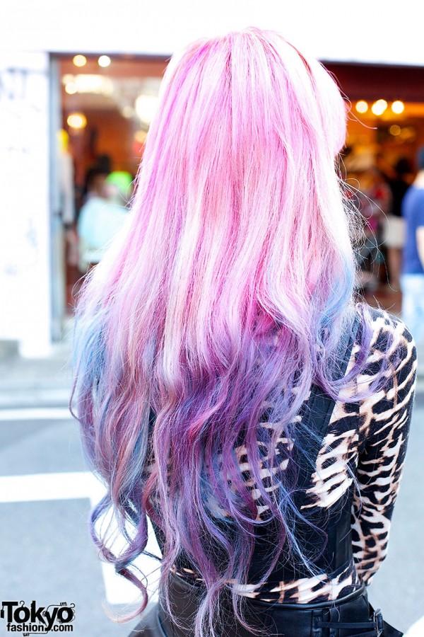 Dip Dye Pink Purple Hair