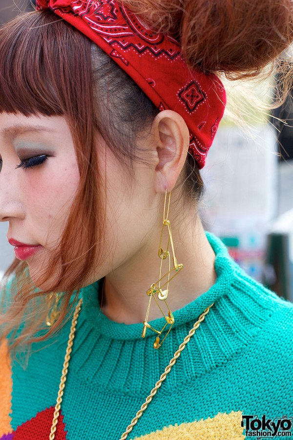 Safety pins earrings