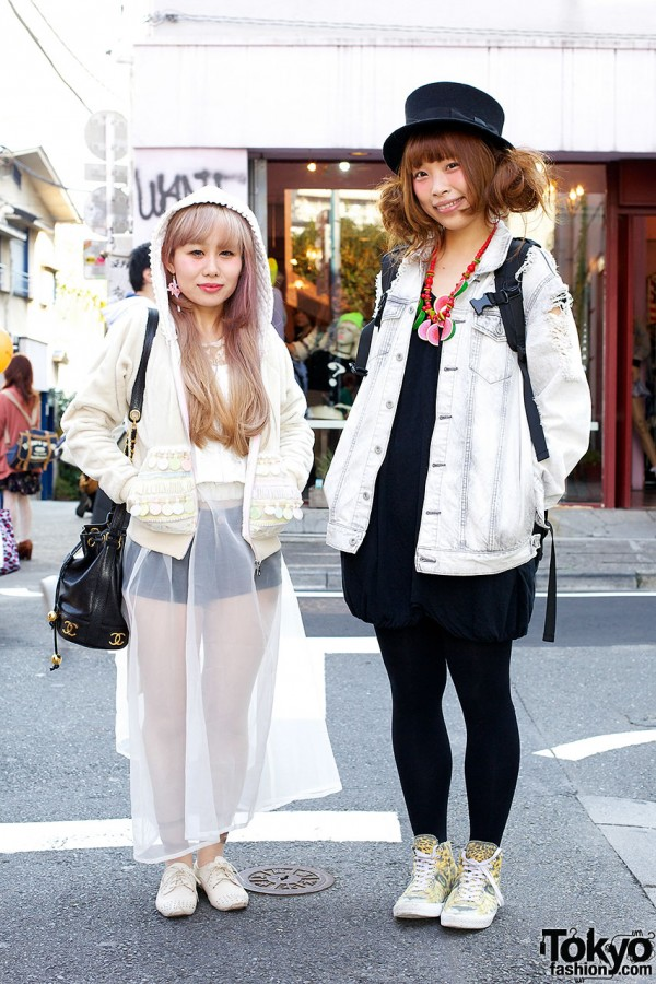 Harajuku girls & top hat