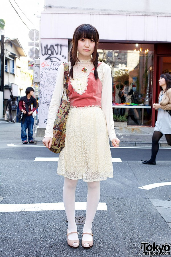 Romantic Outfit in Harajuku