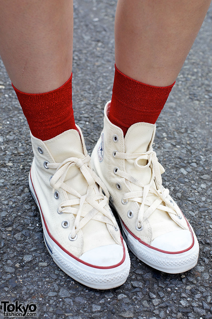 converse red girls