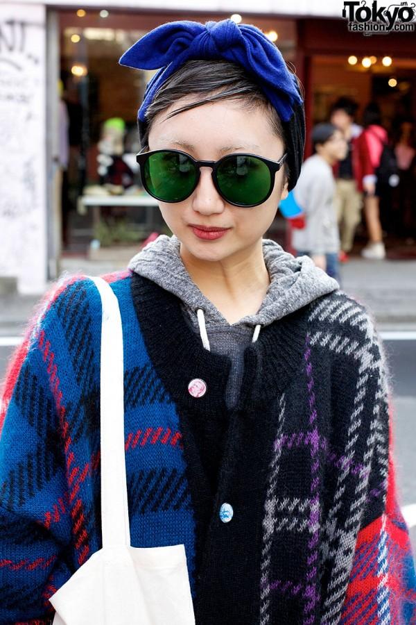 Round Sunglasses in Harajuku