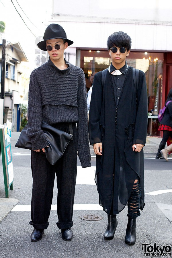 Harajuku boys in all black