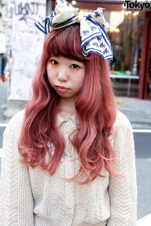 Pretty Pink Harajuku Hair & Bow
