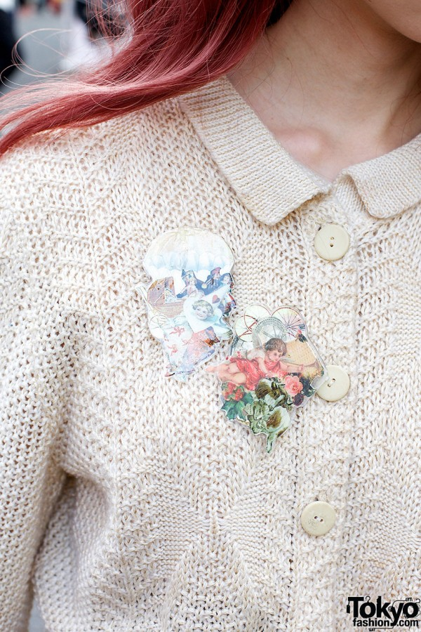 Flower Pins & Cult Party Cardigan