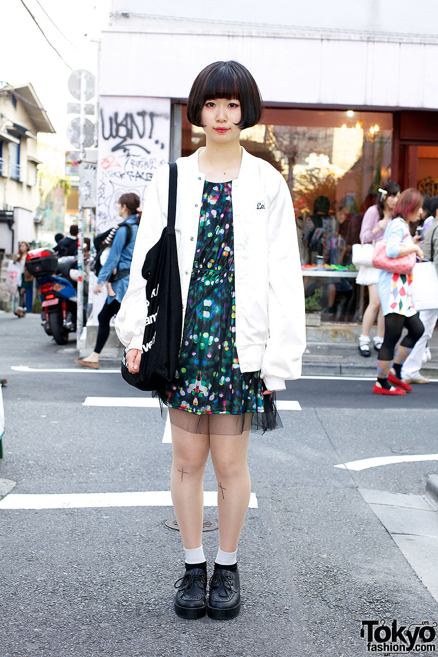 Simple chic Harajuku outfit
