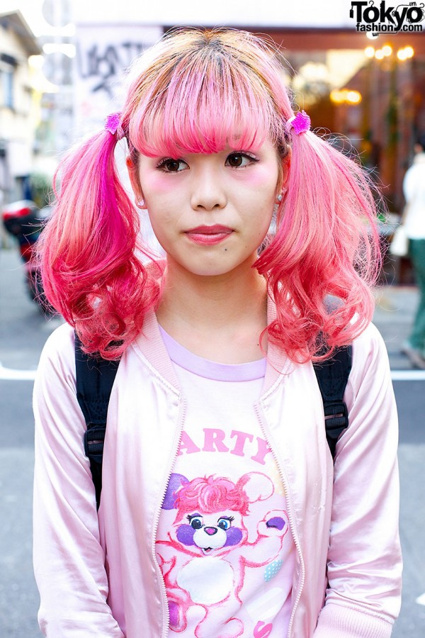 Pink Twin tails