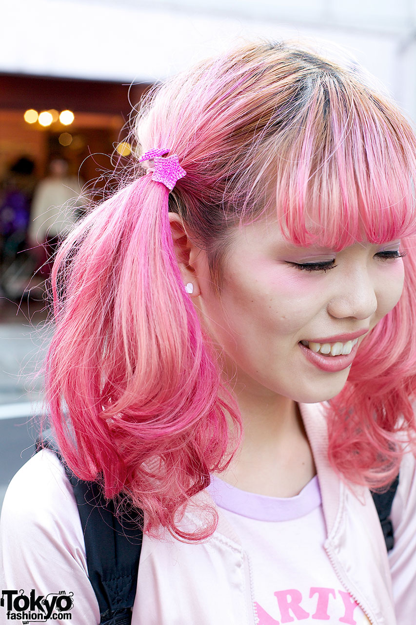 Cute Pink Twin Tails Party Popples T Shirt Amp Hello Kitty