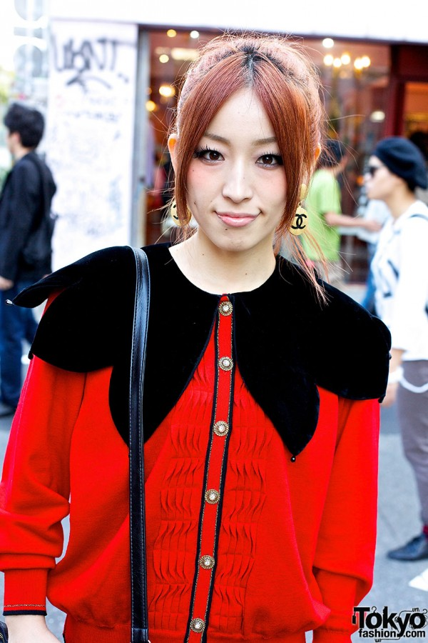 Red resale cardigan