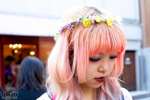 Flower Crown in Harajuku