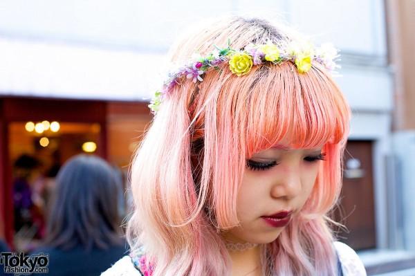 Flower Crown in Harajuku