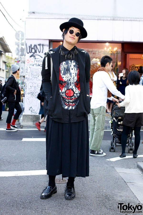 Givenchy Clown Shirt w/ Hat & Homeless Party Backpack in Harajuku