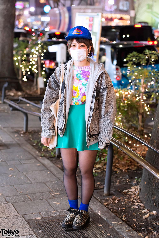 Acid Wash Jacket & Skirt in Harajuku