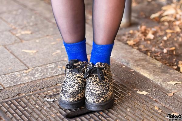Leopard Print Shoes in Harajuku
