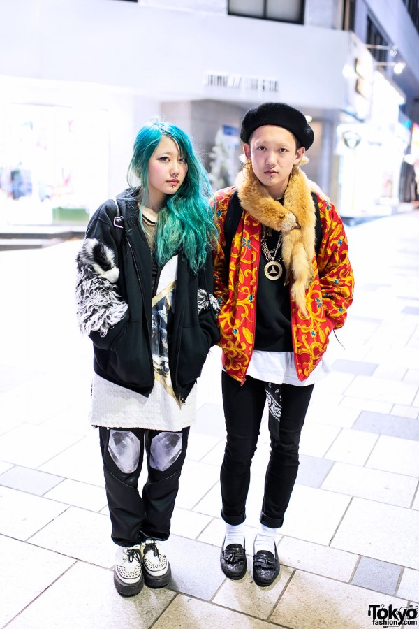 Harajuku Girl & Guy With Nose Rings