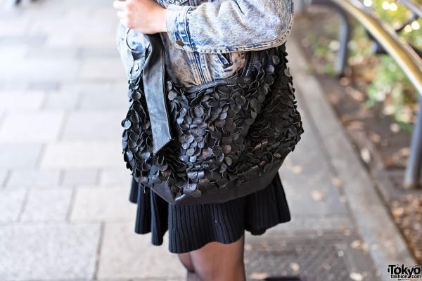 Leather Scales Shoulder Bag