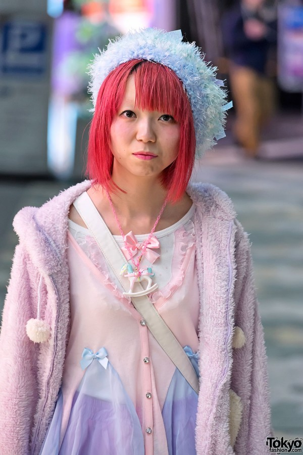 Pink Hair & Bows in Harajuku