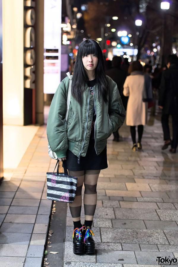MA-1 Bomber Jacket in Harajuku