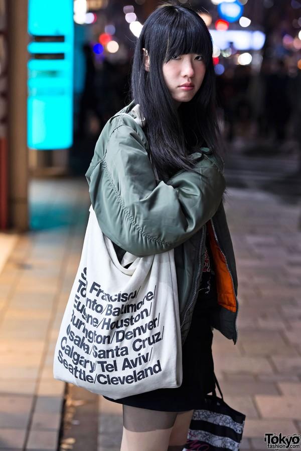 American Apparel Canvas Bag Tokyo