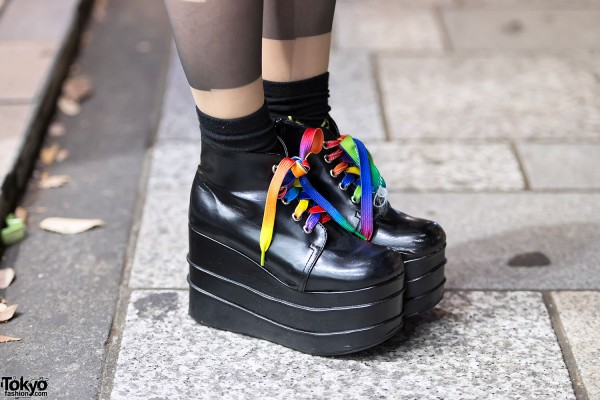 Tiered Platform Shoes in Harajuku