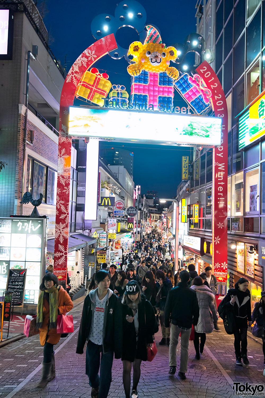 Harajuku Takeshita Dori Christmas 2012 (1)