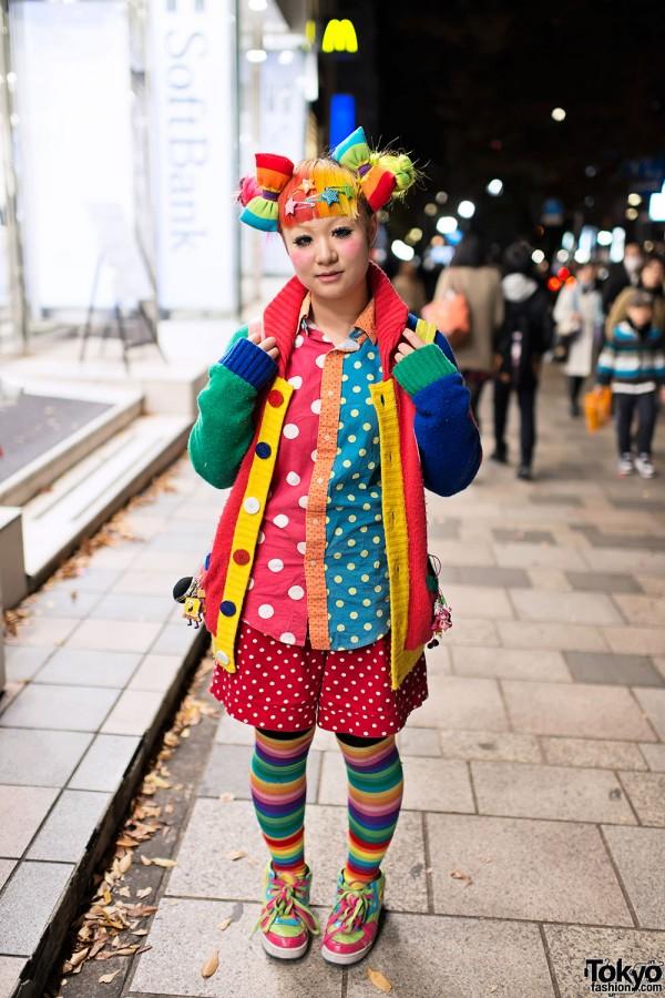 Maimai's Rainbow Decora Hair & Fashion (+ Trolls) in Harajuku