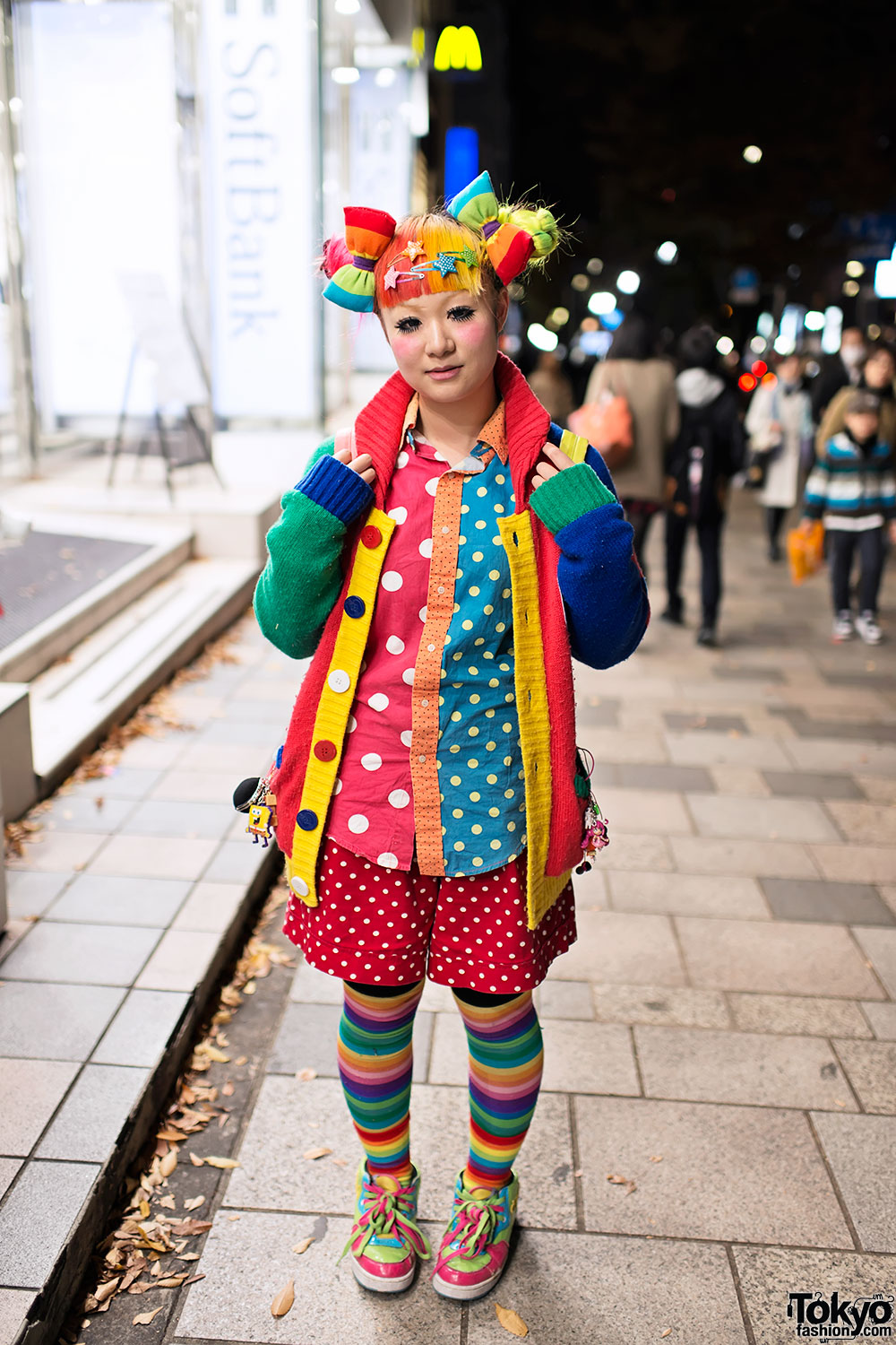 Maimai's Rainbow Decora Hair & Fashion (+ Trolls) In Harajuku