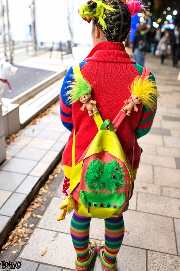 Trolls Backpack in Harajuku