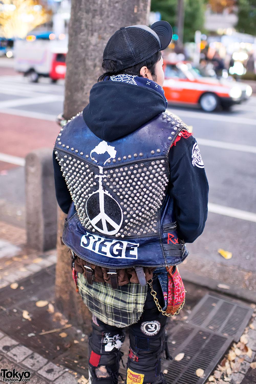 Punk Sweater Vest Diy Punk Leather Vest