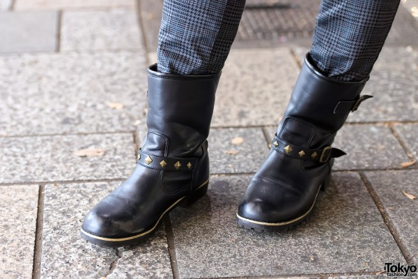 Studded Leather Boots