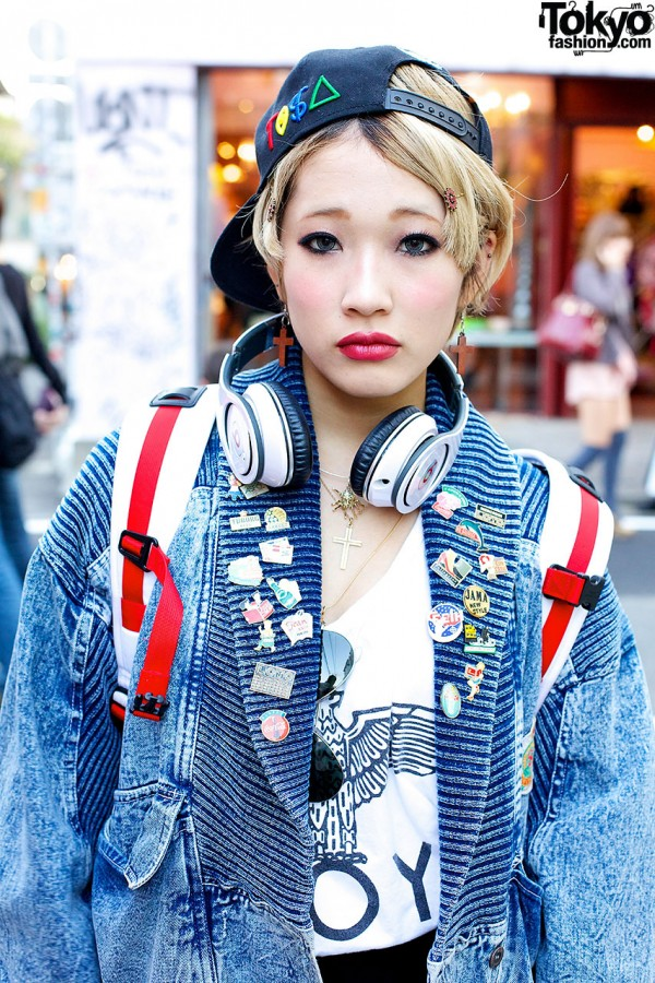 Headphones in Harajuku