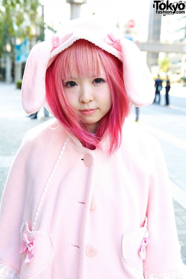 Pink Angelic Pretty Cape & Bunny Ears