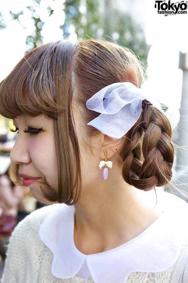 Braided Hair With Bow