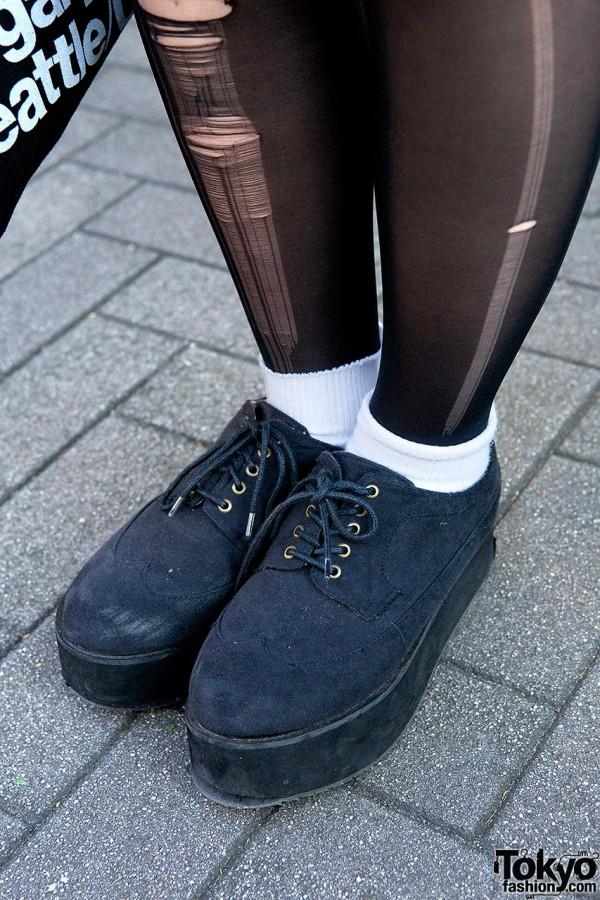 Black Platforms in Tokyo