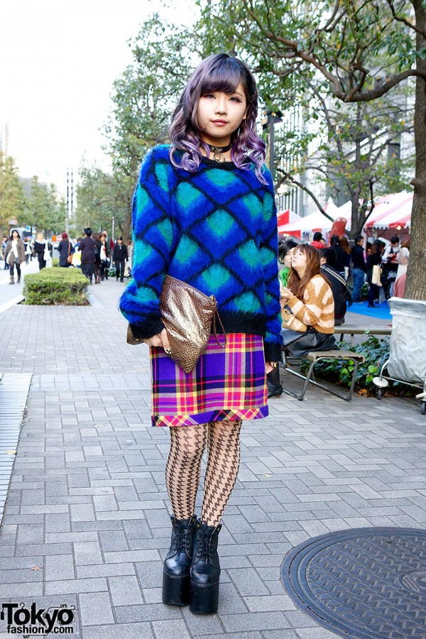 Colorful Outfit in Shinjuku