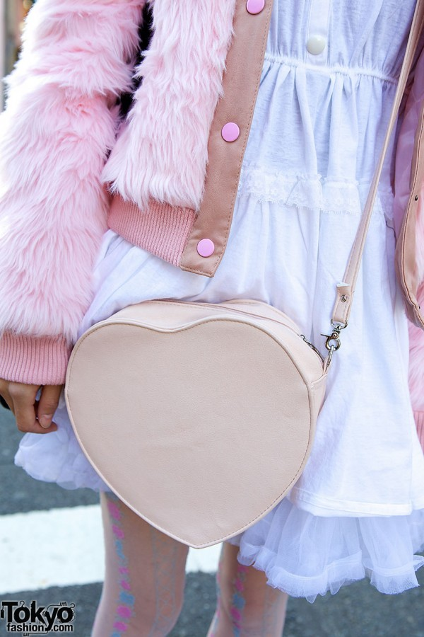 Dazzlin heart shaped bag