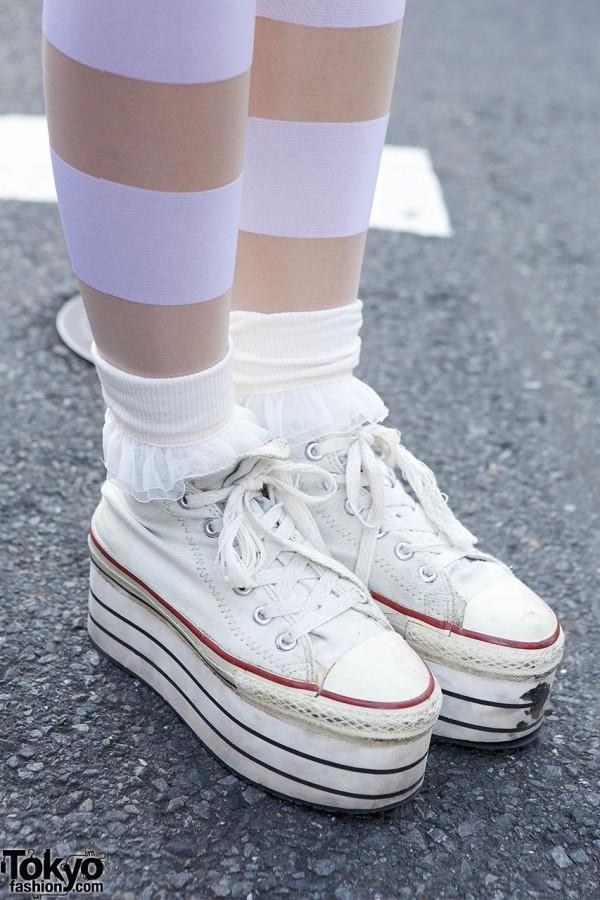 Platform Sneakers & Ruffle Socks