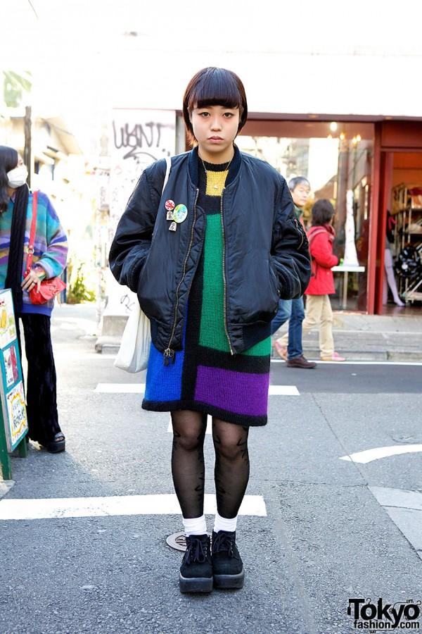 Kinsella Color Block Dress, Bomber Jacket & Tokyo Bopper