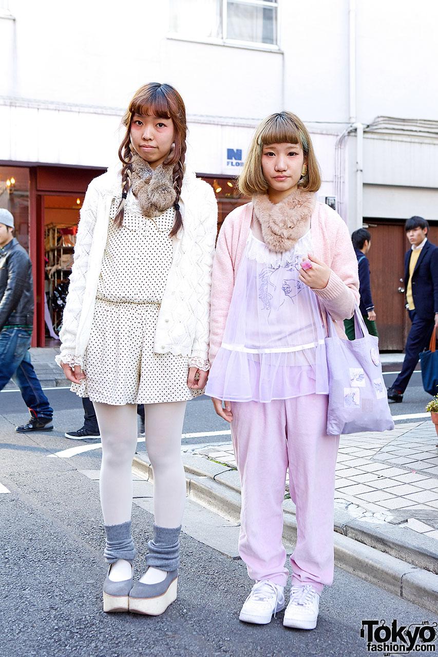 Harajuku girls in pastels