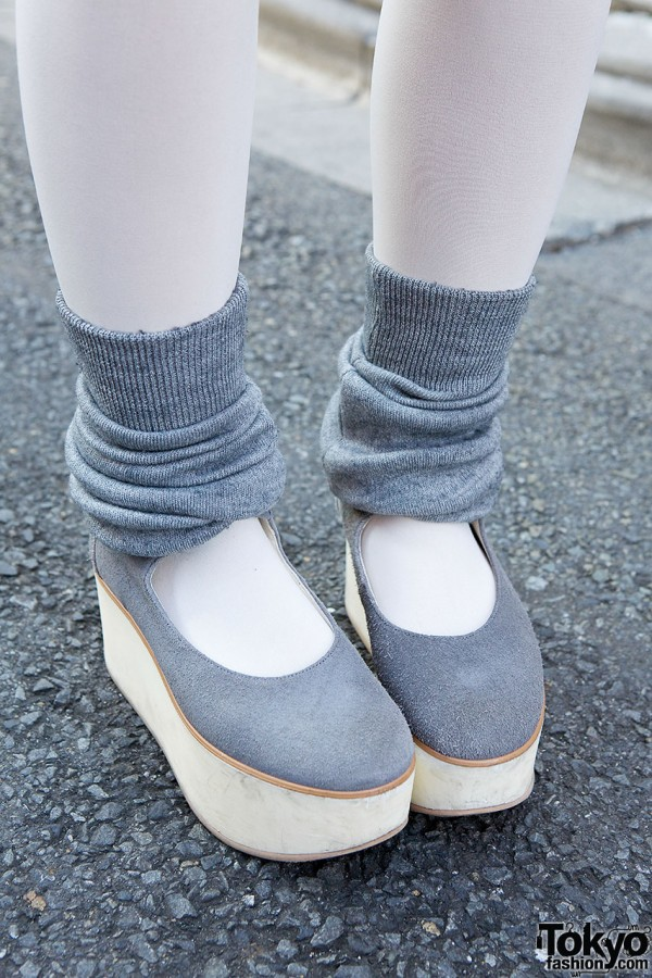 Tokyo Bopper shoes with legwarmers