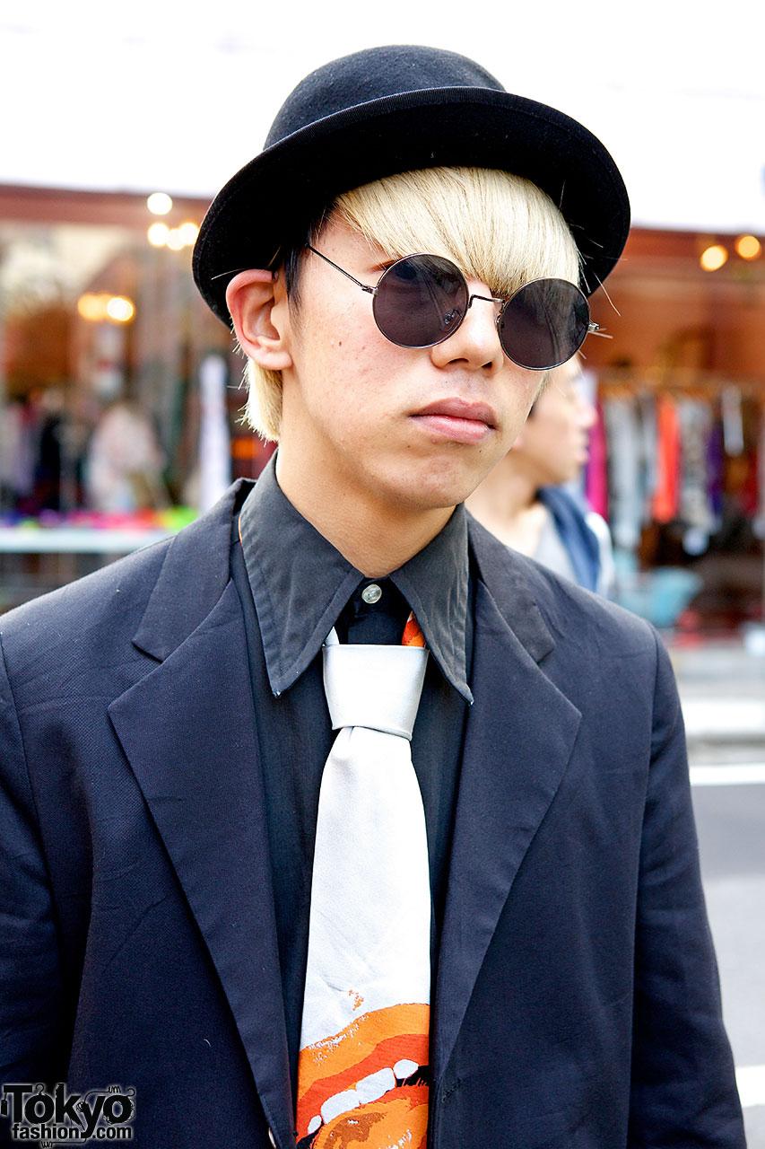 fad8c8c9b6d Harajuku Guy in Bowler Hat · Vivienne Westwood tie