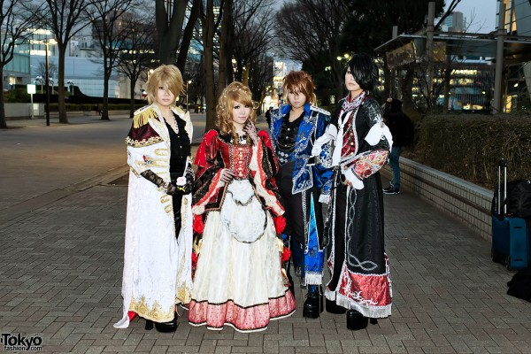 Versailles Final Concert – Fan Fashion Snaps on December 20, 2012 at NHK Hall Tokyo
