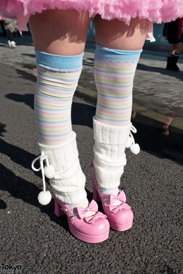 Striped Socks & Leg Warmers