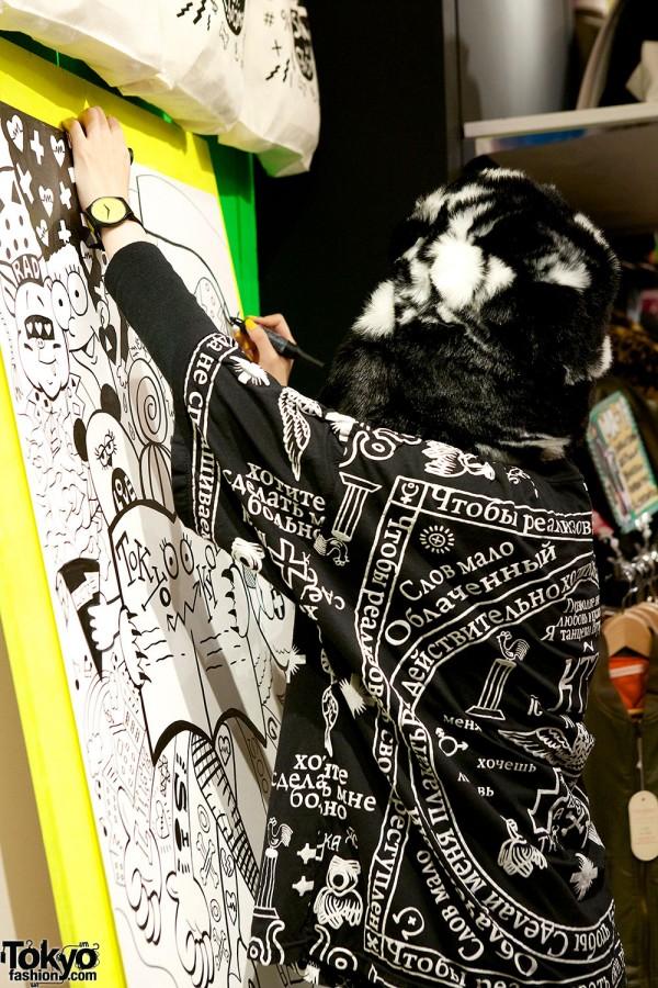 Choco Moo Harajuku Live Painting
