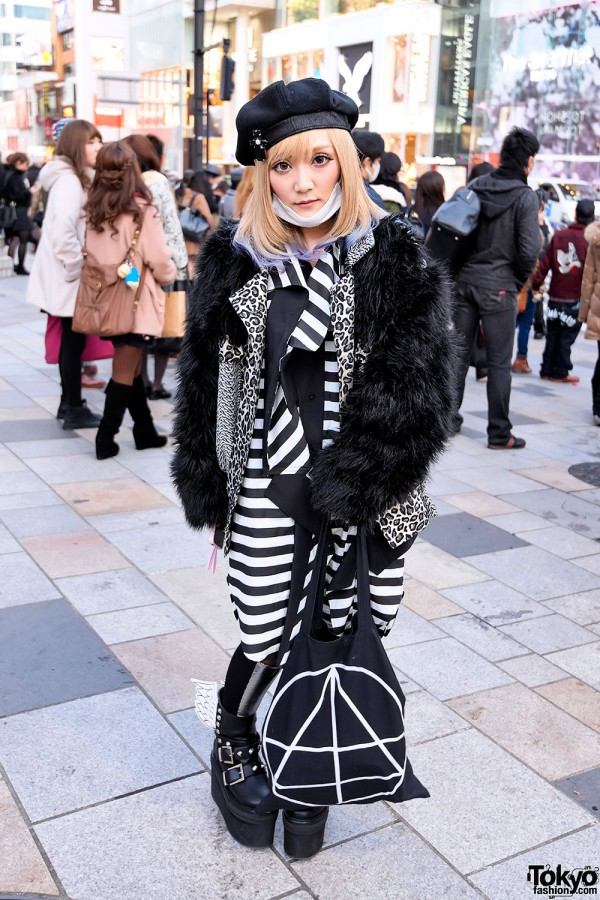 Black & White Fashion in Harajuku
